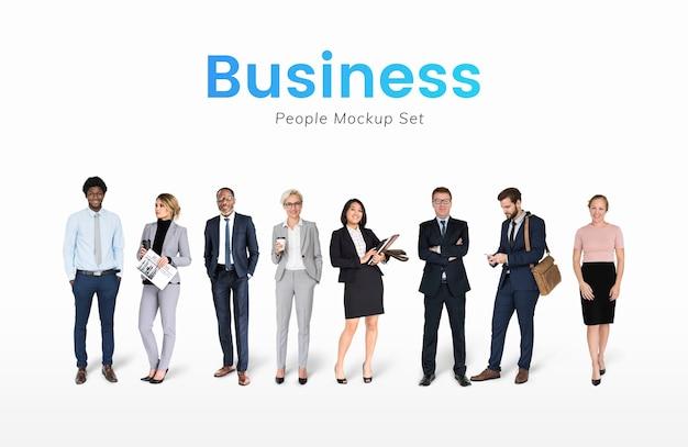 Jeu de caractères divers de gens d'affaires