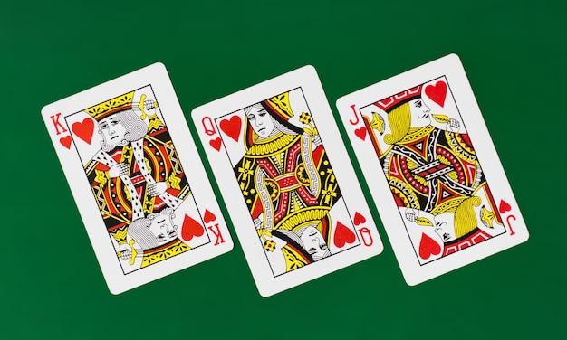 Jeu de cartes complet avec poker de fond uni