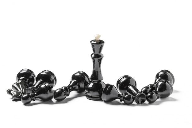 Jeu d'échecs isolé sur blanc