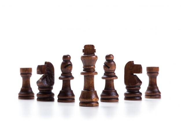 Jeu d'échecs ou pièces d'échecs