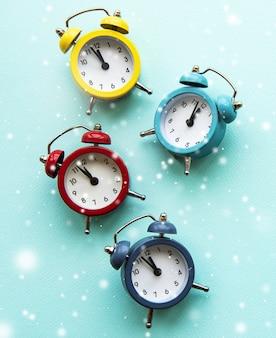 Jeu d'horloge de vacances de noël