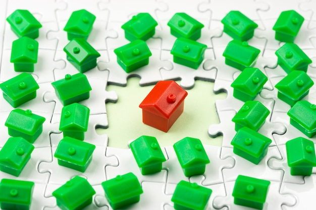 Jeu de l'immobilier et du marché immobilier