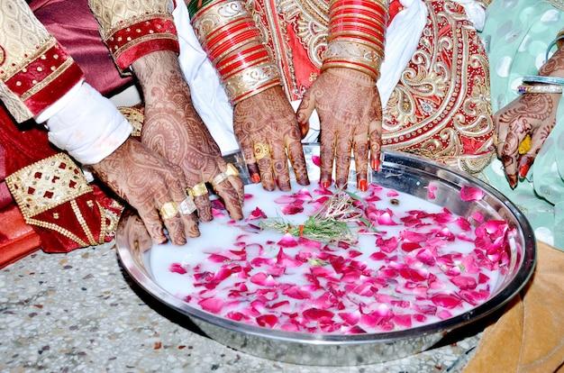 Jeu de mariage royal indien