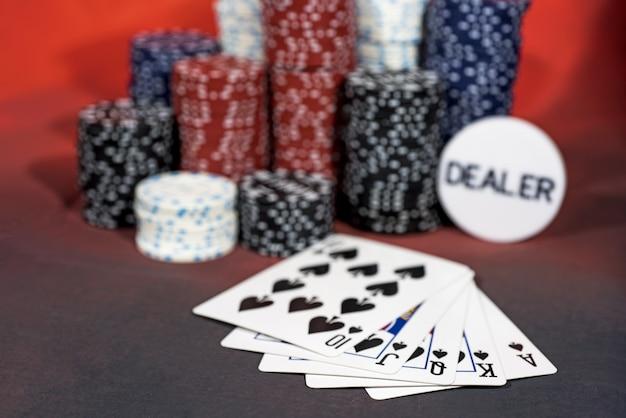 Jeu de poker de casino.