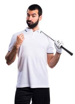 Jeu de score fier jeu de golf de loisirs