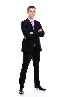Jeune, beau, homme affaires