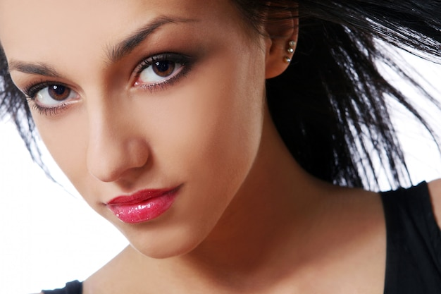 Jeune belle femme sexy brunet
