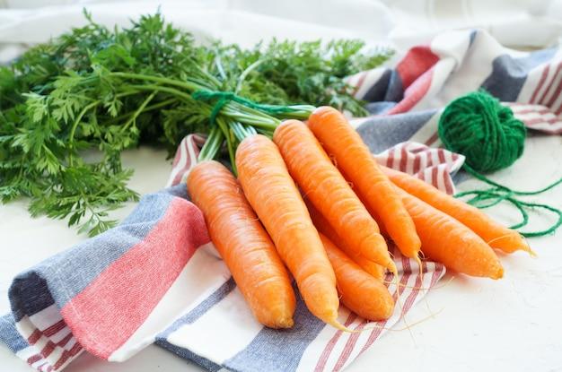 Jeune carotte fraîche