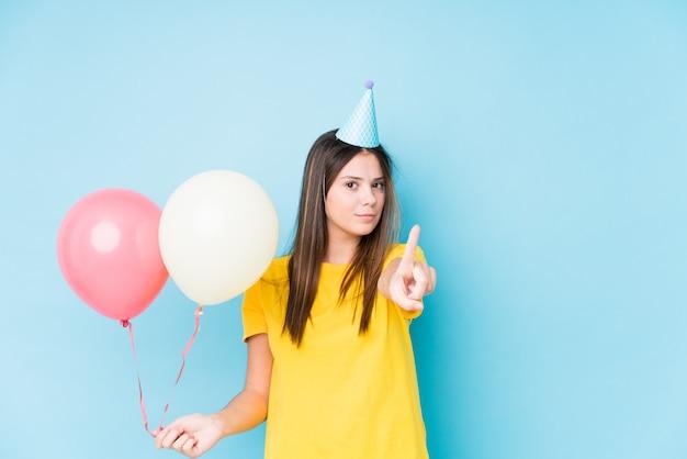 Jeune, caucasien, femme, organisation, anniversaire