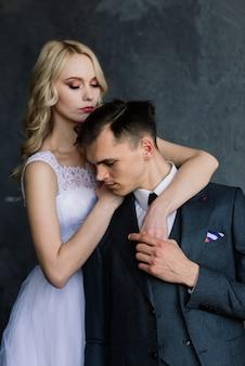 Jeune couple le jour du mariage