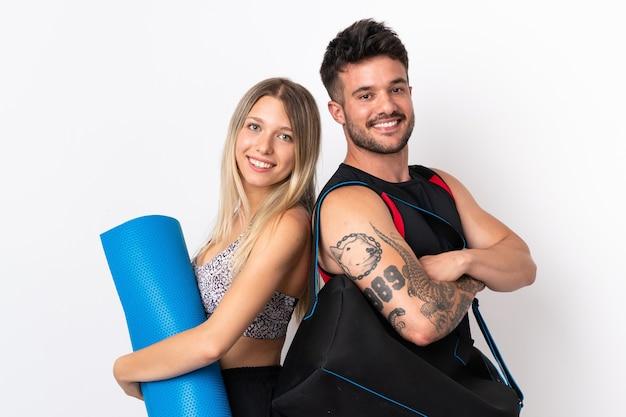 Jeune couple sportif