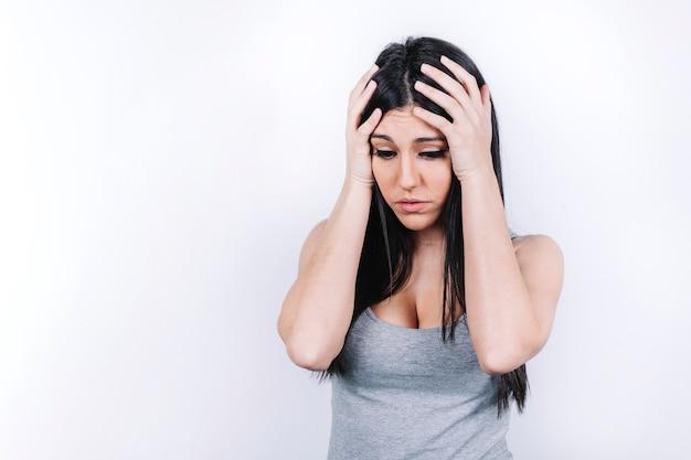 Jeune femme désespérée