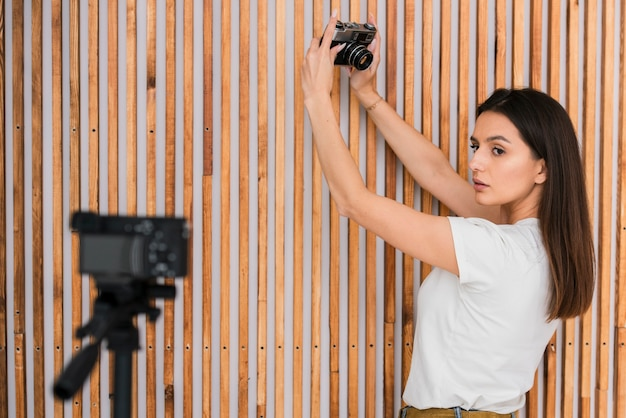 Jeune femme en direct
