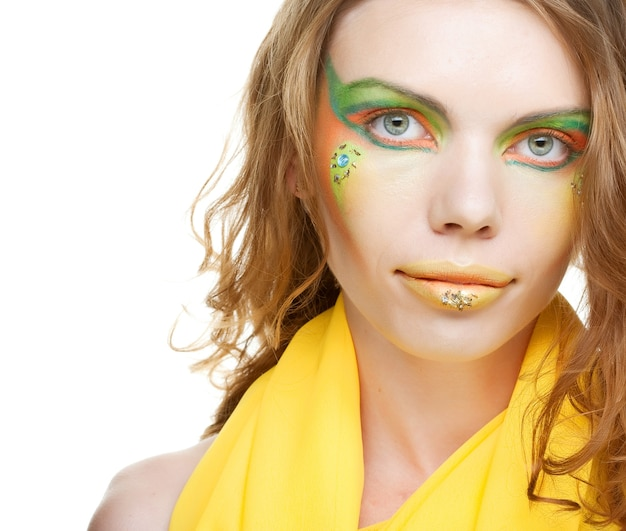 Jeune femme, à, maquillage créatif