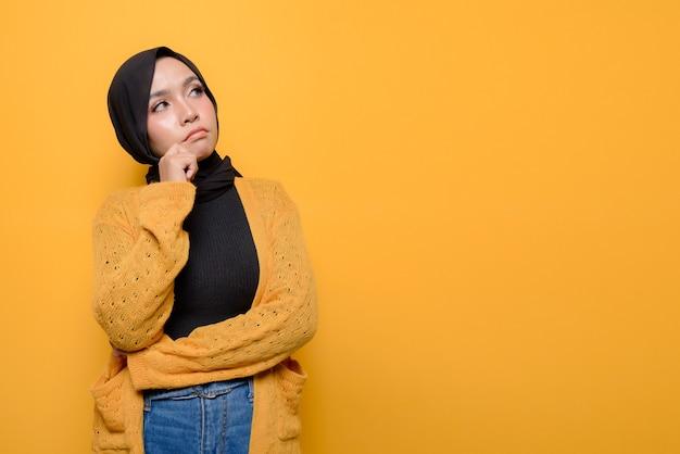 Jeune femme, porter, hijab