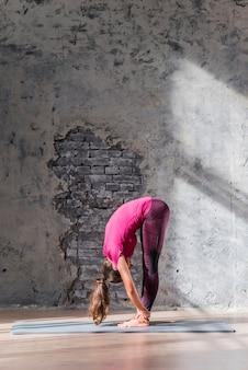 Jeune femme travaillant à l'intérieur du loft