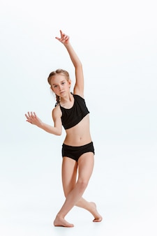 Jeune fille, coupure, danse