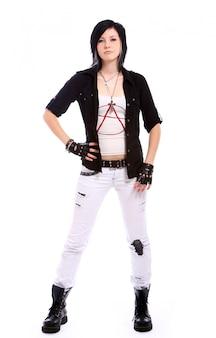 Jeune fille punk