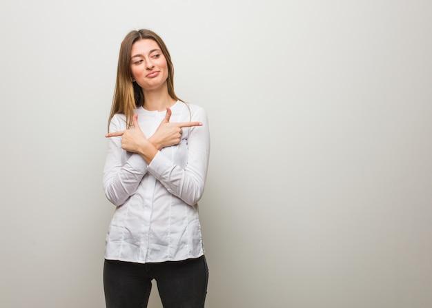 Jeune fille russe décide entre deux options