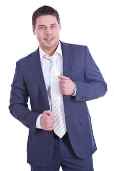 Jeune homme d'affaires prospère