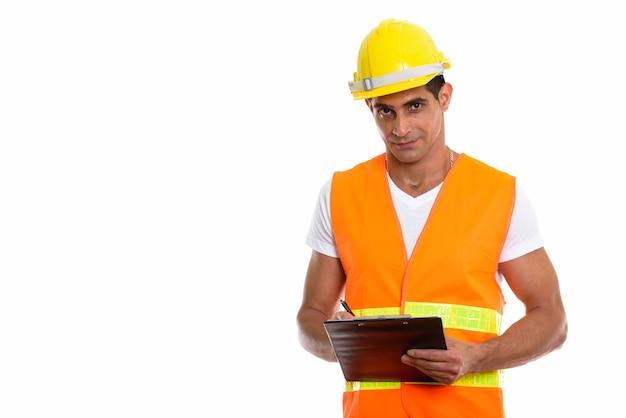 Jeune homme persan musclé ouvrier du bâtiment