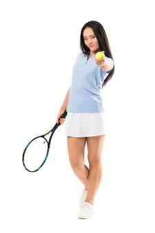 Jeune tennisman asiatique