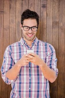 Jeune, utilisation, mobile, téléphone