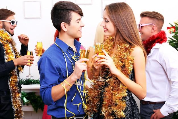 Les jeunes fêtent noël