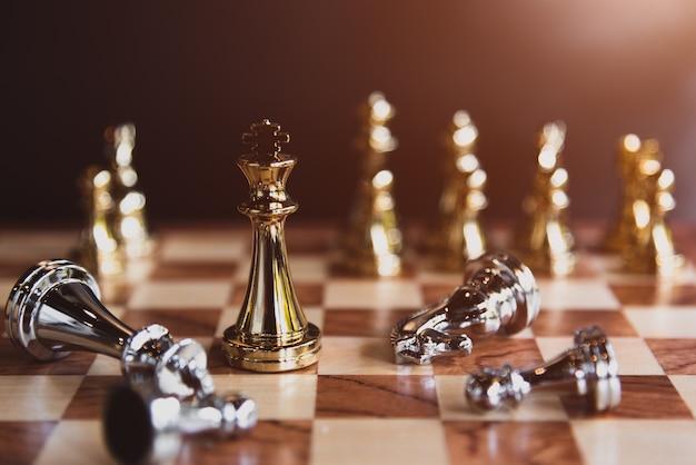 Jeux d'échecs pour le dernier gagnant du concours de partage du marché des entreprises