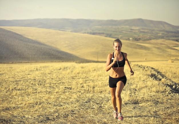 Jogging à la campagne