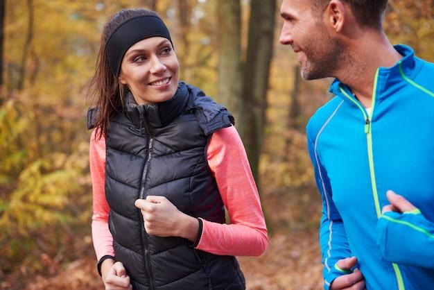 Le jogging est notre passe-temps commun