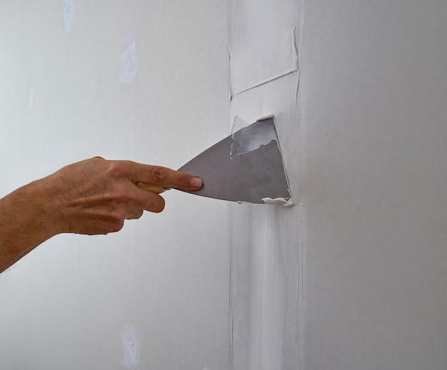 Joint de plâtre de plâtre laminé