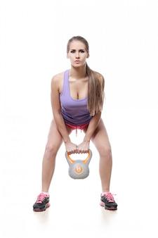Jolie femme athlète isolée
