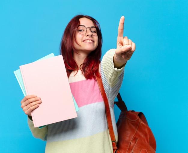 Jolie femme étudiante