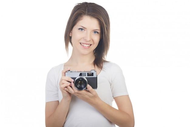 Jolie femme photographe