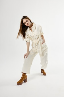 Jolie Jolie Femme Marron Chaussures Isolées Photo Premium