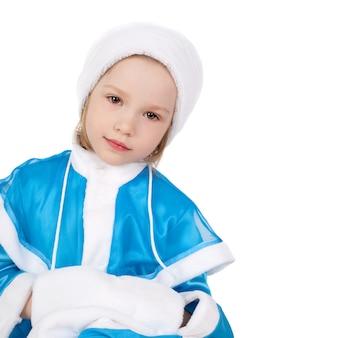 Jolie petite fille dans le costume de la snow maiden