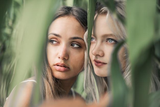 Jolies filles dans la nature