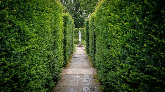 Jolies fleurs, arbres et plantes et aménagement de jardins dans les jardins de la caslte de sissinghurst