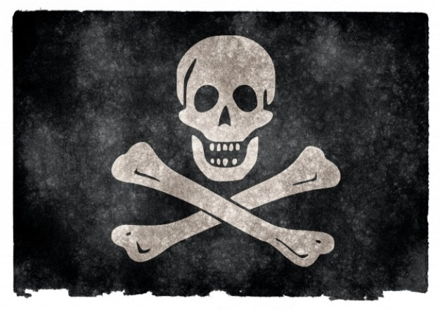 Jolly roger pirate flag grunge