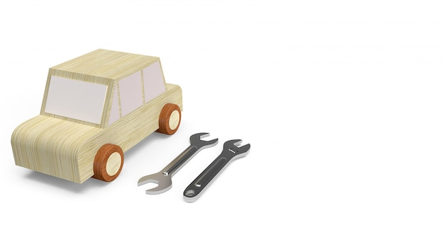 Jouet en bois de voiture pour service de voiture