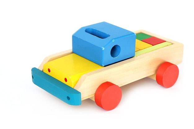 Jouet en bois. voiture