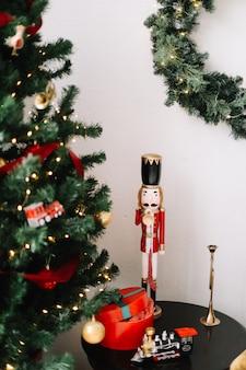 Jouet casse-noisette classique composition de vacances joyeux noël et nouvel an