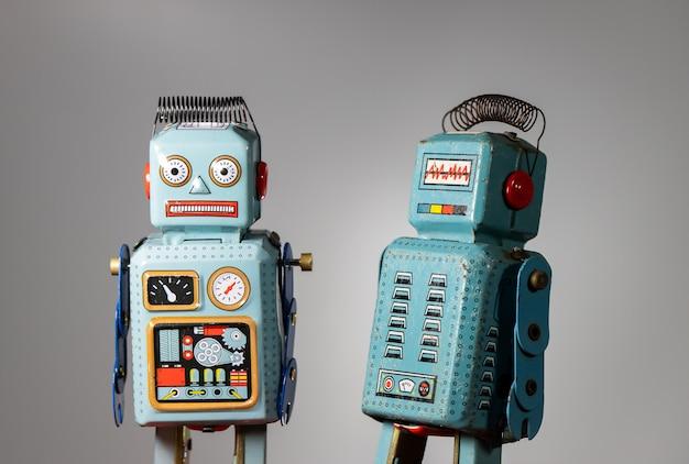 Jouet étain robot vintage