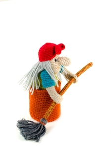 Jouet de poupée tricoté baba yaga