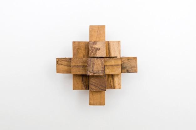Jouet de puzzle de blocs de bois