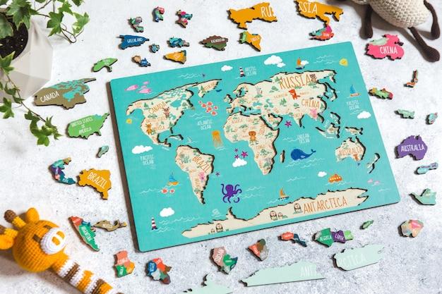 Jouet de puzzle éducatif en bois pour enfants