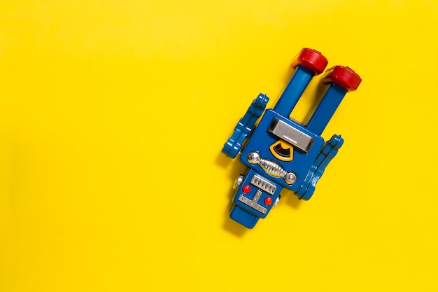 Jouet robot vintage en étain