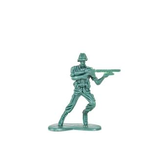 Jouet de soldats miniatures sur fond blanc