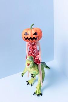Jouets halloween effrayants en gros plan